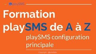 playSMS configuration principales