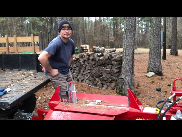 BIG HELP! Split Fire 2265 Log Splitter Consolidating Firewood Inventory