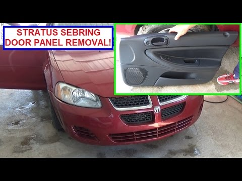 Dodge Stratus Front Door Panel Removal and Replacement 2001- 2006