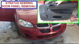 Dodge Stratus Front Door Panel Removal and Replacement 2001- 2006 Chrysler Sebring Door Panel