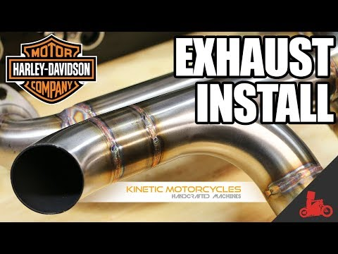 How To: Harley Sportster Exhaust Install (Kinetic Motorcycles)