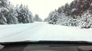 Subaru XV зимой на летней резине