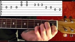 Guitar Lesson - LED ZEPPELIN -  OVER THE HILLS AND FAR AWAY Intro