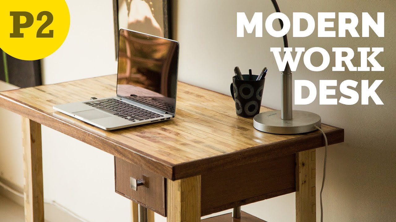 DIY Modern style desk  How to Build  YouTube