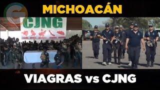 Los Viagras y CJNG se disputan Michoacán