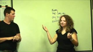 Beginning American Sign Language-Week Nine-The Class Introducing Themselves to Jackson