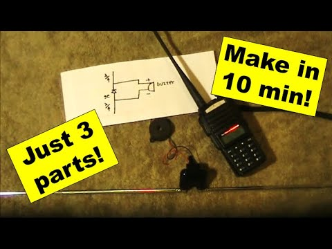 Build an audible VHF/UHF handheld transmitter tester in 10 minutes