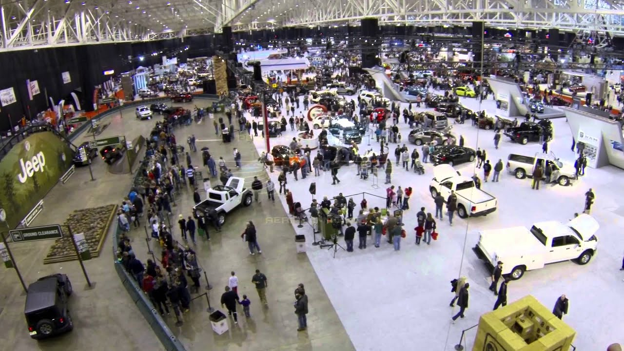 Indoor Aerial Video Cleveland Car Show YouTube - Indoor car show