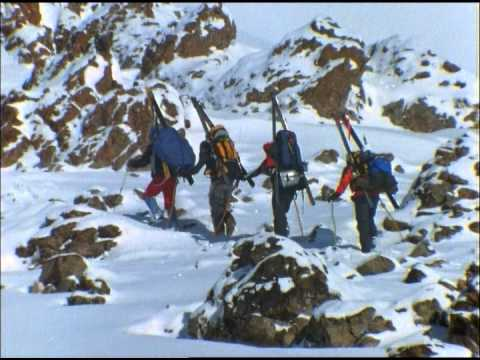 Warren Miller's Film Crew Camps on Mt. Damavand in Iran