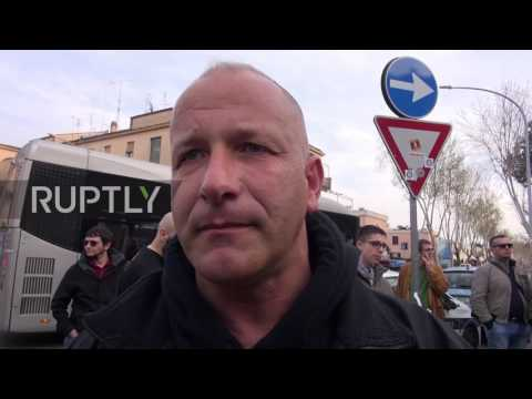 Italy: Far-right protesters rally against EU on 60th anniversary of Treaty of Rome