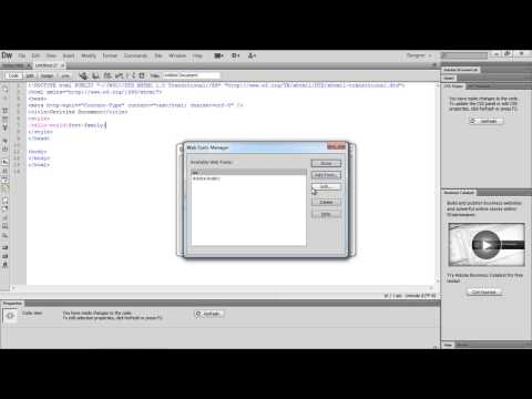 How To Add New Fonts To Dreamweaver