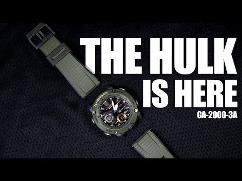 BIG & BOLD ARMY GREEN - G-SHOCK GA-2000-3A - UNBOXING & SPEC