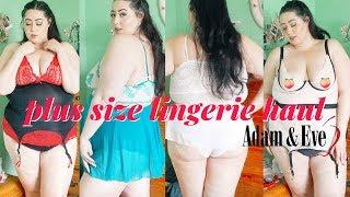 Plus Size Lingerie Haul | Adam and Eve