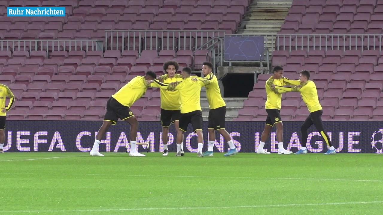Das Abschlusstraining des BVB im Camp Nou
