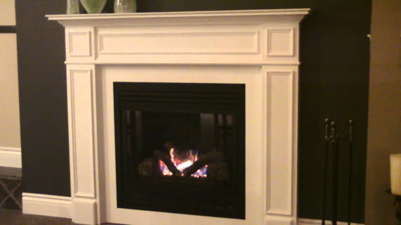 majestic cdv33 direct vent gas fireplace with wood mantel mp4
