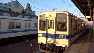 東武木崎駅 夕方の普通電車行き違い 850系と800系 2018.5.4