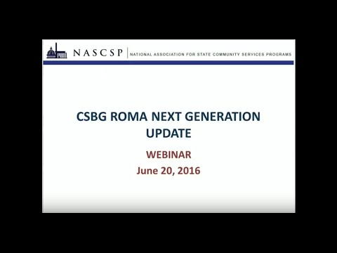 FRN1 OMB Comment Period: ROMA Next Generation Update