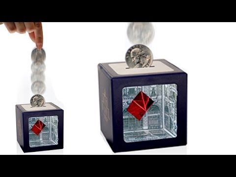 Optical Illusion Art Bank Disappearing Coins ~ Incredible Science