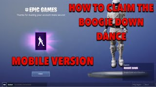 WIE DIE BOOGIE DOWN DANCE IN FORTNITE MOBILE