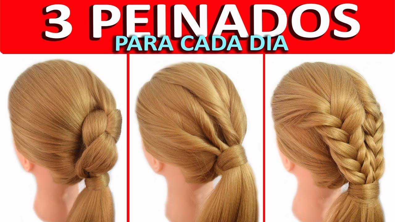 3 Peinados Con Coletas Con Trenzas Faciles Y Rapidos Para Nina