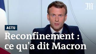 Covid-19 et reconfinement : les annonces d'Emmanuel Macron face au coronavirus