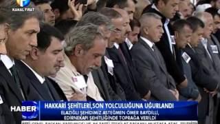 Kanal Fırat Haber - Hakkari Şehitleri Son Yolculuğuna Uğurlandı