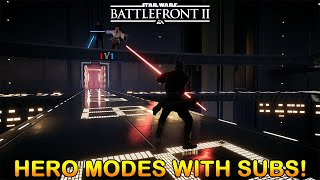 Hero Showdown & HVV With SUBS!!! Star Wars Battlefront 2 LIVE! DOUBLE XP!
