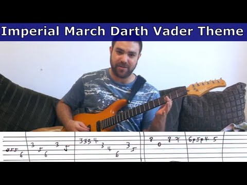 Tutorial: Imperial March / Darth Vader Theme (Solo version) - w/ TAB (Guitar Lesson)