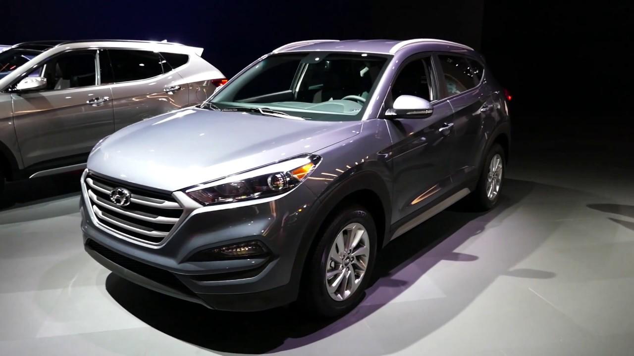 New 2018 Hyundai Tucson Suv Exterior Tour Cargo Area 2017 La Auto Show Los Angeles Ca