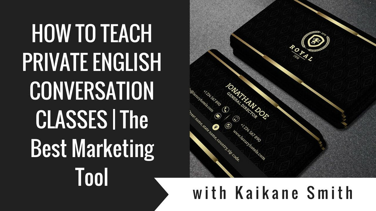 The Best Marketing Tool For ESL English Private Teachers Abroad Personal And Scented Business Card