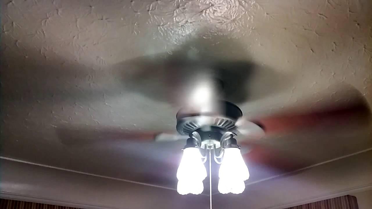 New Fan Hampton Bay Cameron Ii Plus Ceiling Fan Youtube