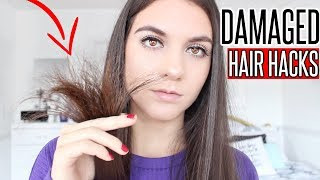 How To Fix EXTREMELY Damaged Hair At Home | Hair Hacks for DAMAGED HAIR !