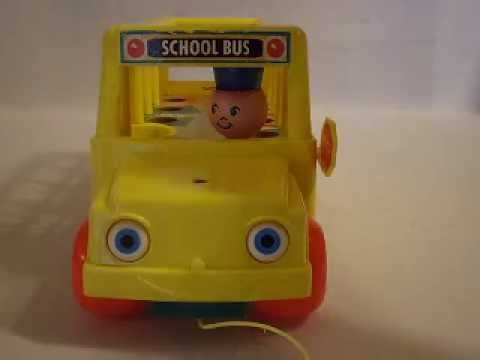 vintage fisher price play family school bus with little people youtube. Black Bedroom Furniture Sets. Home Design Ideas