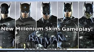 Batman Arkham Origins: New Millennium Skin Pack DLC Gameplay! HD