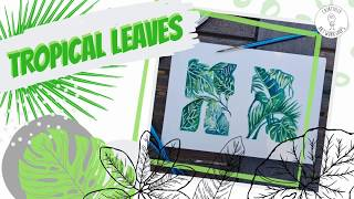 How to paint tropical leaves