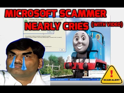 Microsoft scammer nearly cries  (confronted hard)