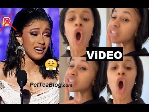 Cardi B Goes Off About Grammy Win Backlash & Deletes her Page (ViDEO)👀