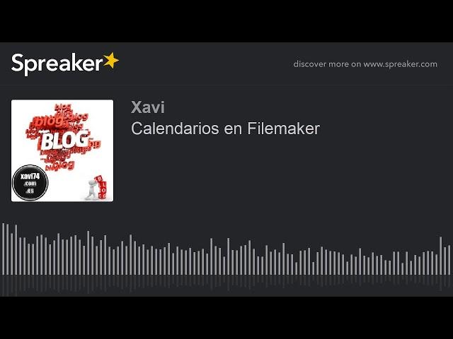Calendarios en Filemaker