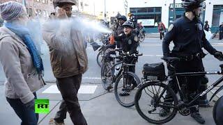 В Сиэтле полицейские применили перцовый газ против участника митинга памяти Мартина Лютера Кинга