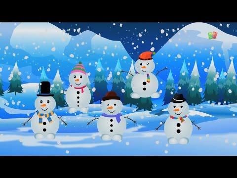 Cinque piccoli pupazzi di neve | filastrocche collezione | Baby Rhymes | Five Little Snowmen