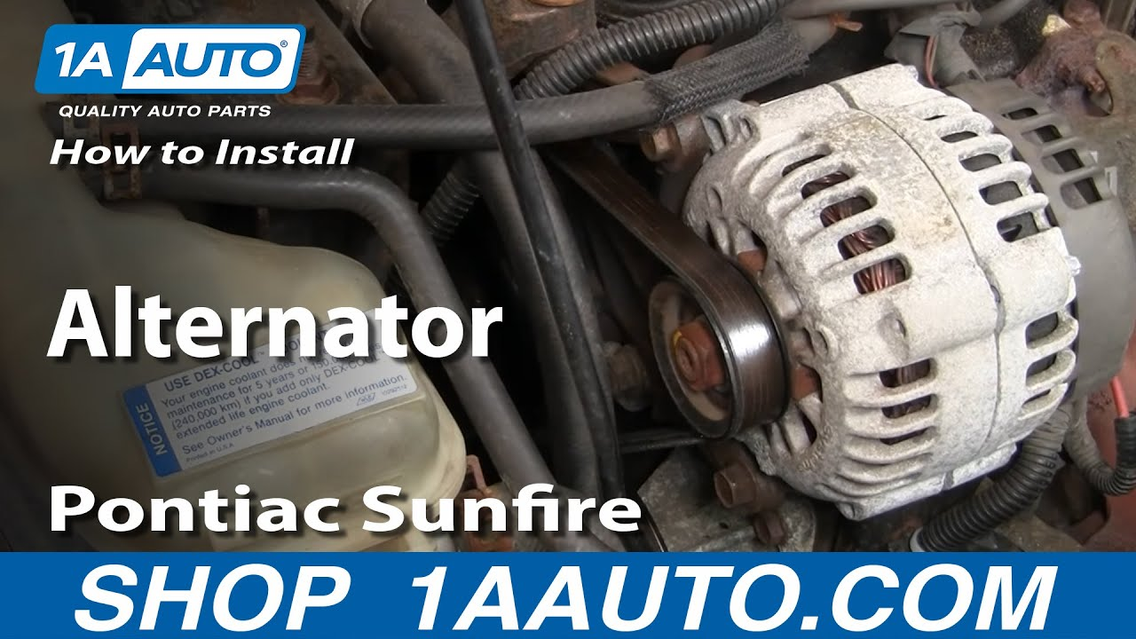 how to install replace alternator cavalier sunfire 2 2l 95 05 1aauto rh youtube com 2006 chevy cobalt ss engine diagram 2.2 Ecotec Engine Diagram