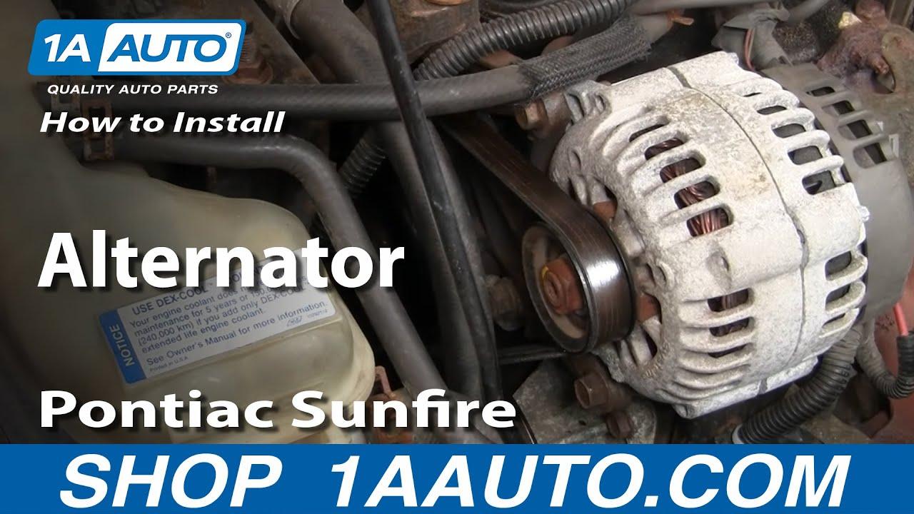 How To Install Replace Alternator Cavalier Sunfire 22L 95