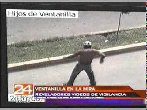 Imágenes captadas por las cámaras de seguridad de Ventanilla