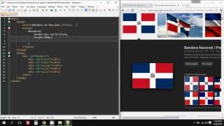 Como crear bandera de República Dominicana utilizando html y css