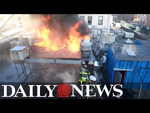 4-alarm fire ravages Flushing, Queens