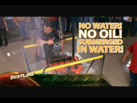 Bestline Dunks Volvo Engine underwater in a 500 gallon tank