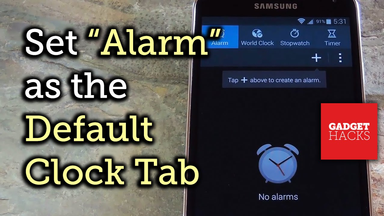 How to Make Android's Clock App Open Directly to the Alarm
