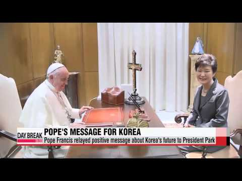 """Pope Francis: two Koreas always open for reconciliation   교황, 남북에 """"가족 때로 다투"""