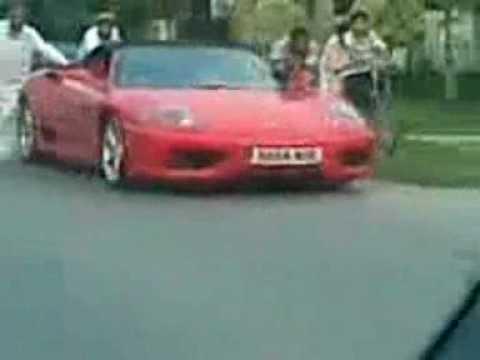 Ferrari Push Back In Pakistan Big Shit On The Car (FAROZE)