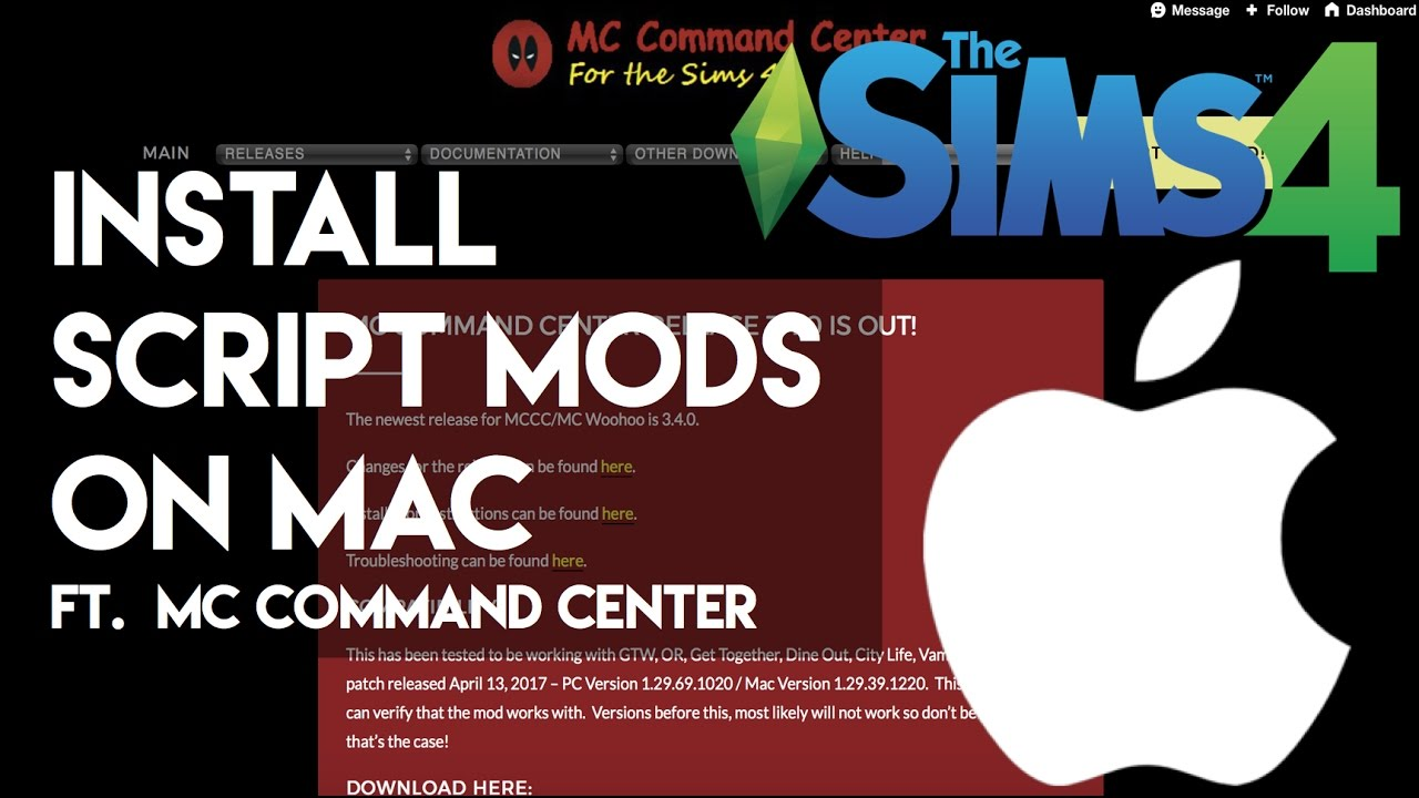 HOW TO: Install Sims 4 Script Mods(MC Command Center) on a MAC (UPDATED) |  CSIMS4